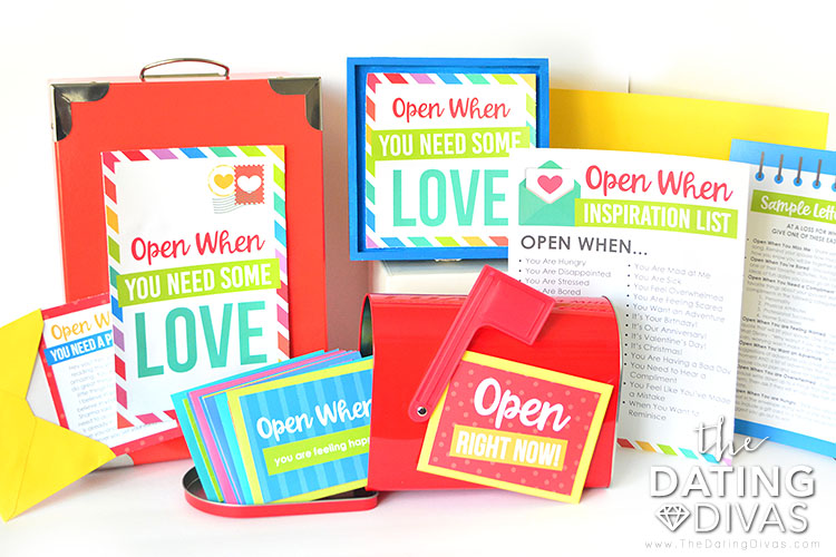 Open Me When Letters Kit |The Dating Divas
