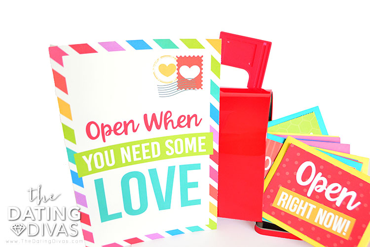 Create a box full of love with special love notes.