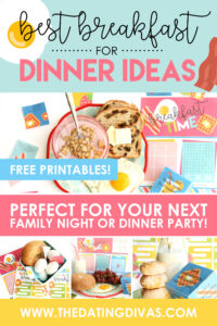 LOVE having breakfast for dinner! Can't wait to do try this fun breakfast party idea with my family! #breakfastfordinnerideas #dinnerpartyideas #familyfun
