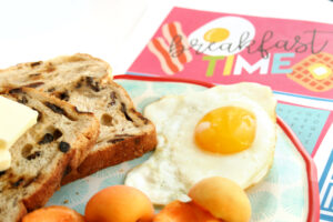 Breakfast Placemat Free Printable