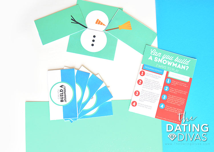 Build a snowman - a special game for date night.