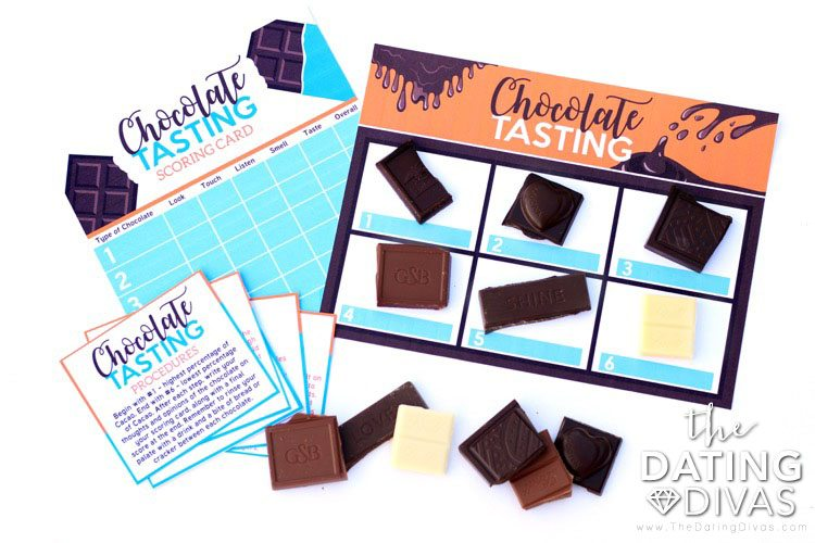 Printable activities and romantic date ideas for a chocolate tasting date | The Dating Divas