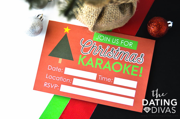 Christmas Carols Invitation