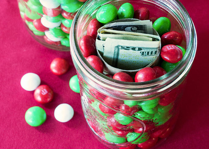 Jar of Candy and Money
