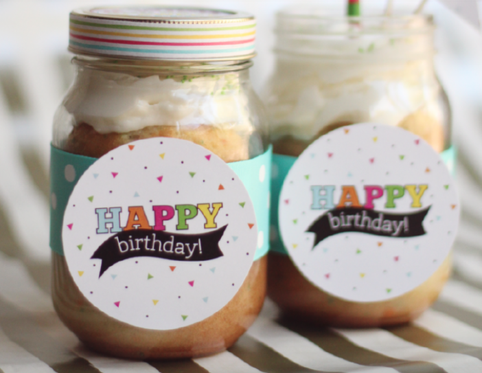 Happy Birthday Jar Gift Idea