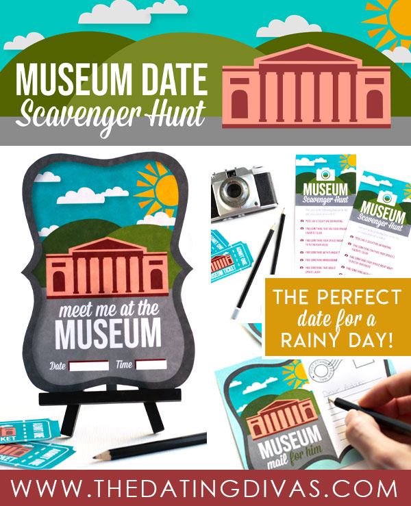 SUPER cute date idea for a rainy day for the hubby from TheDatingDivas.com! #scavengerhunt #museumdate