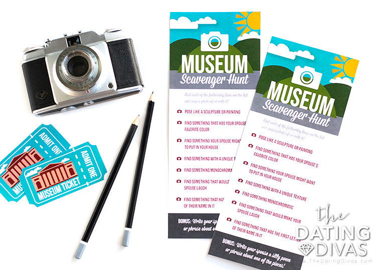 A checklist and tickets to the museum.
