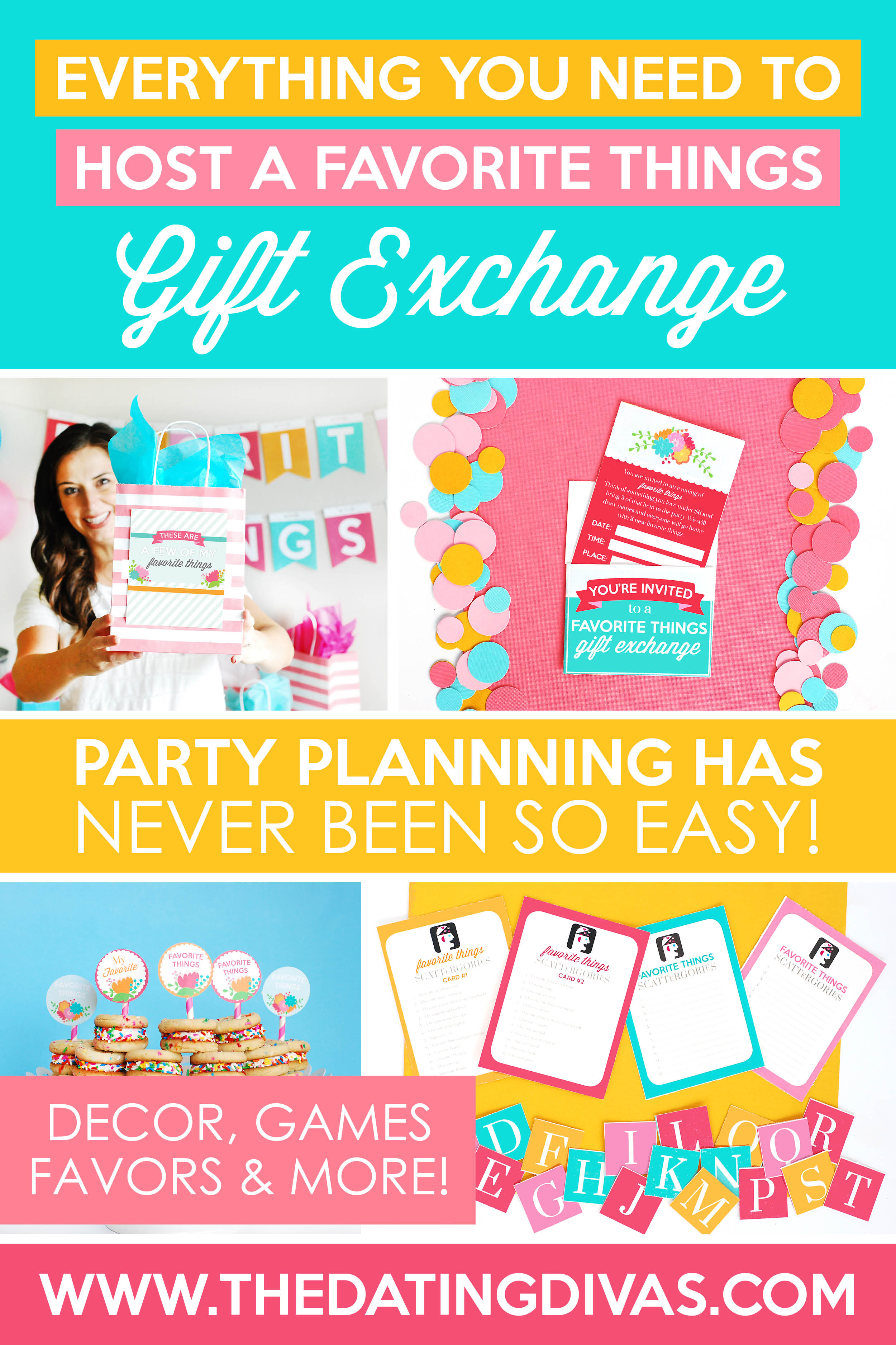 Favorite Things Party Ideas! I always wanted to host a Favorite Things Gift Exchange Party with my girlfriends! This site has everything I need: ideas, instructions, games, decorations, printables and more! So excited for this! #FavoriteThingsPartyIdeas #FavoriteThingsGiftExchange #FavoriteThingsPartyGiftIdeas