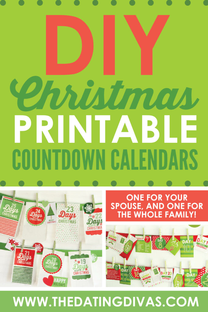 These adorable Christmas Countdowns Printable packs will make your Christmas extra special this year! #ChristmasCountdown #Christmas #Family