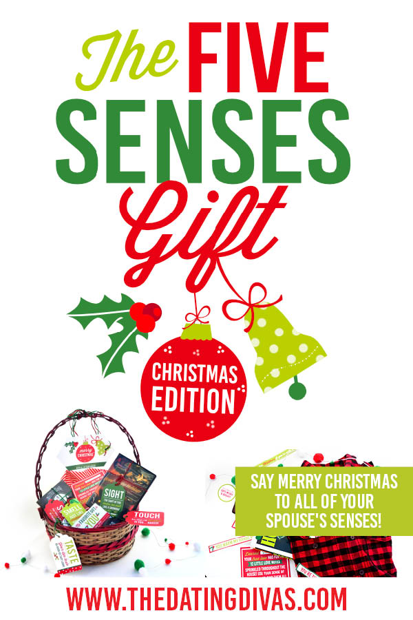 "Show your spouse some Christmas love with these 5 senses gift printables! If you want some great ""I love you with all my senses"" gift ideas, these are it! #5senses #ChristmasGift"