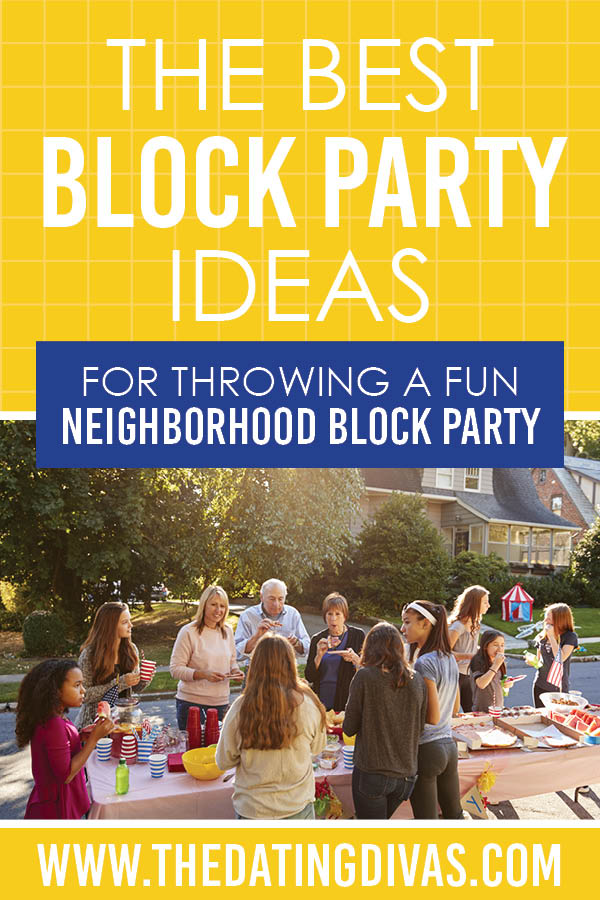 Block party ideas for throwing the best neighborhood block party! #BlockParty #NeighborhoodParty