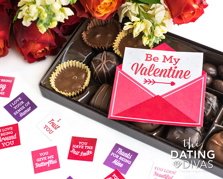 A gift tag for your chocolate box.