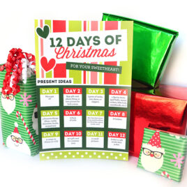 12 Days of Christmas gift ideas for a fun Christmas tradition.