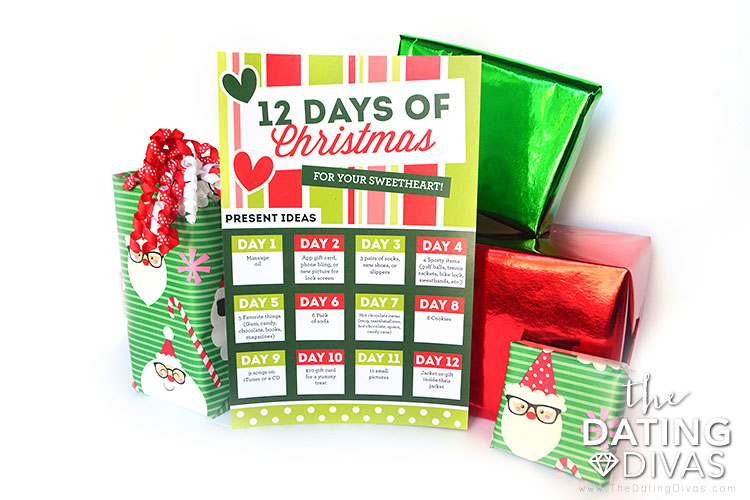12 days of Christmas present ideas for husbands.