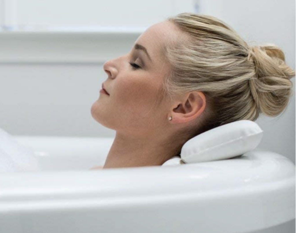 Bath Neck Pillow for Relaxing At-Home Bath | The Dating Divas