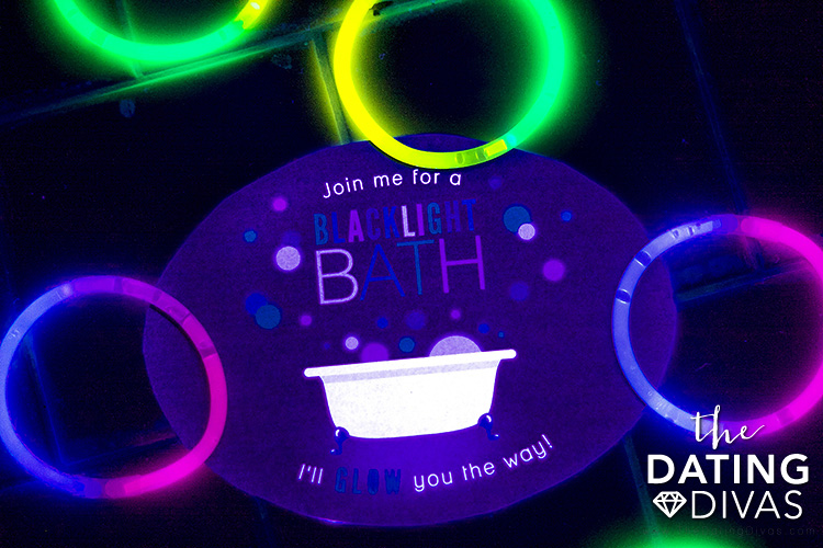 Black Light Bath Date Night for At-Home Relaxation | The Dating Divas