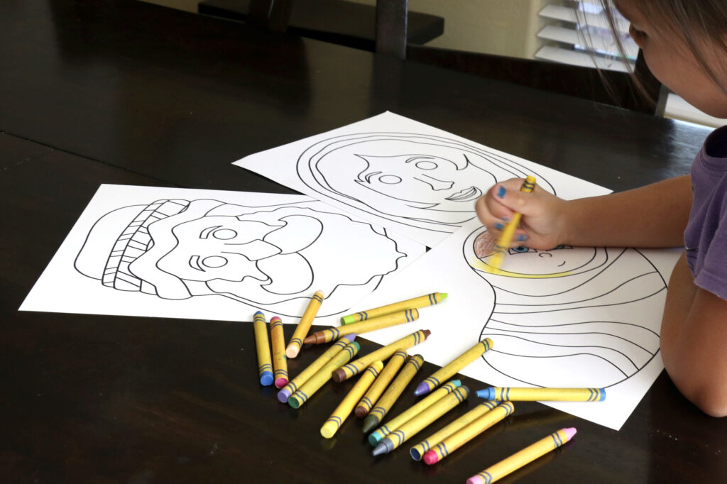 Printable Masks for kids to color