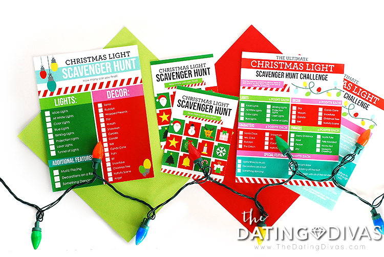 Christmas Lights Scavenger Hunt List Ideas With Printable