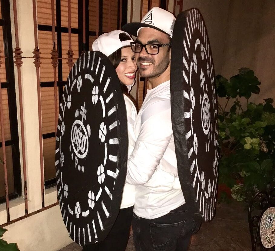 Oreo cookie couples costume idea for you. | The Dating Divas