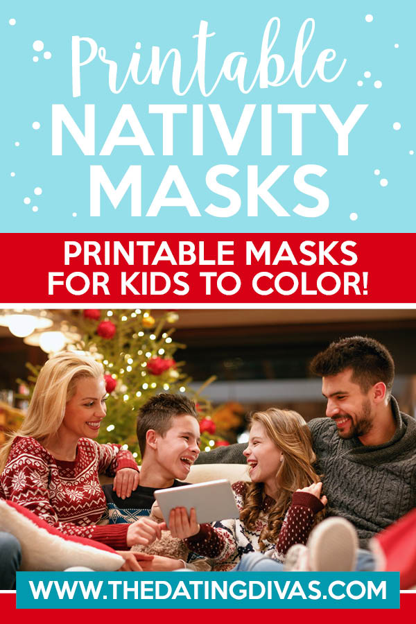 A classic Christmas tradition with a twist! Can't wait to use these nativity printable masks with my family this Christmas! :) #FreePrintableMasks