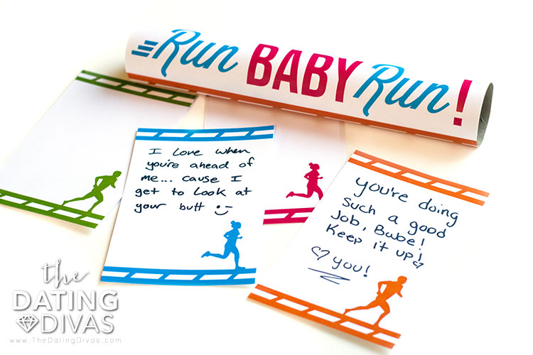 5k training notecards for your spouse.
