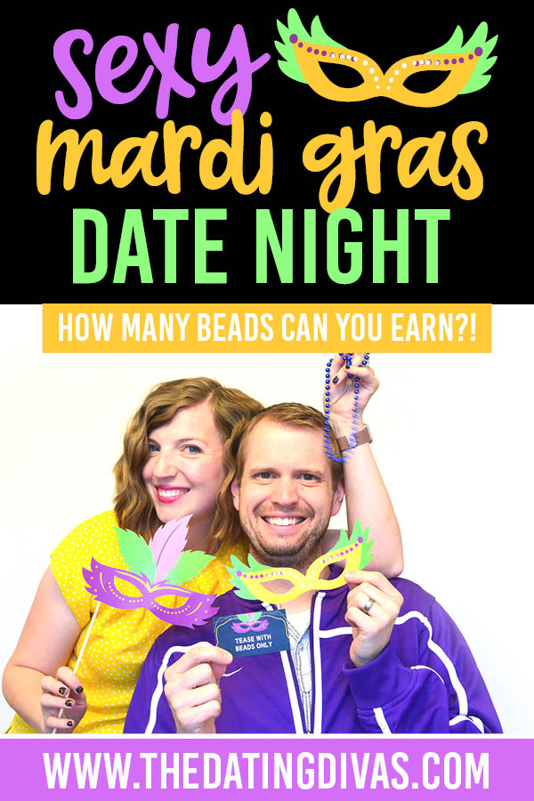 An easy and sexy Mardi Gras date is just my style! #MardiGrasDate #MardiGrasPartyIdeas