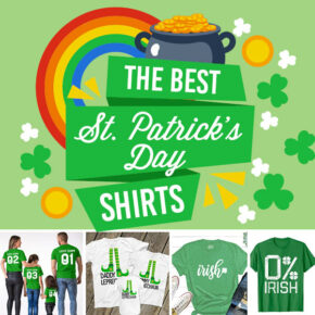 Celebrate St. Patrick's Day with these fun shirts.