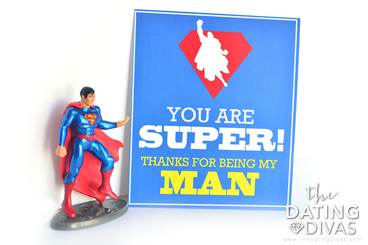 A super Cupid's Day note for a super man!