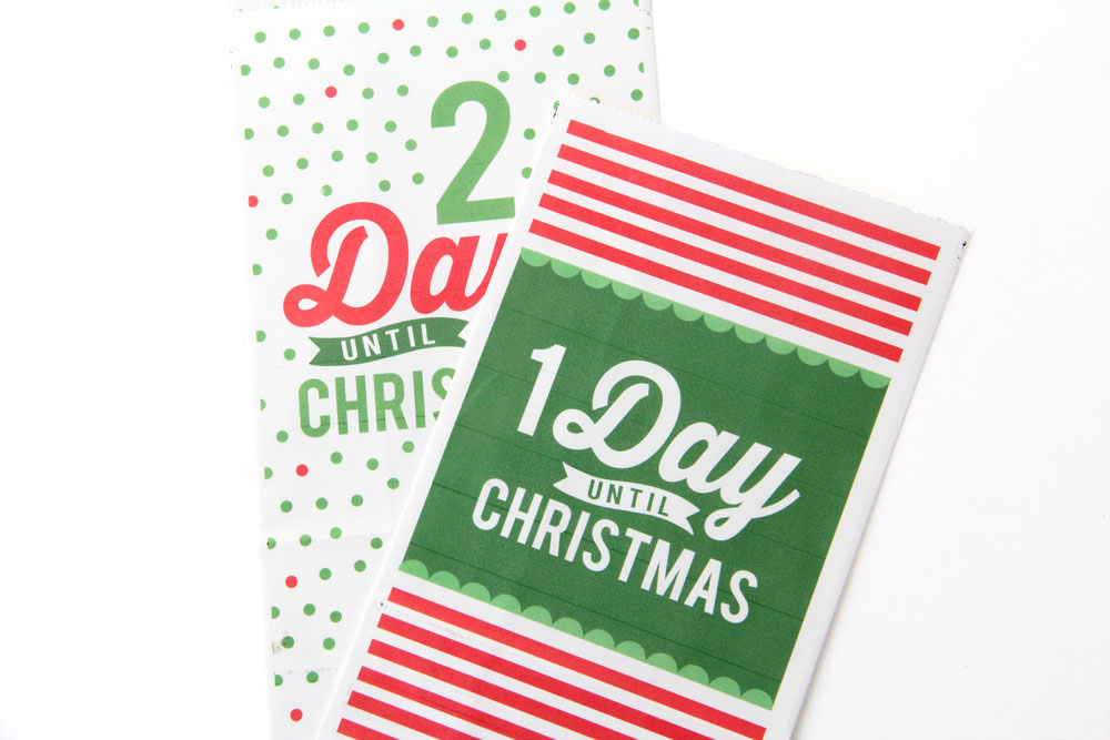 Bags for Family Printable Countdown Calendar