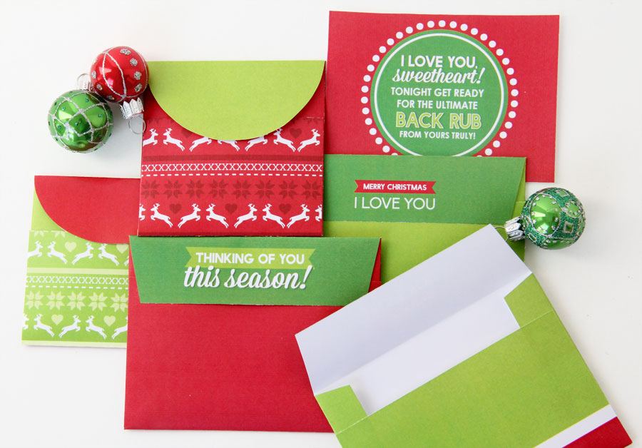 DIY Christmas Countdown Envelopes