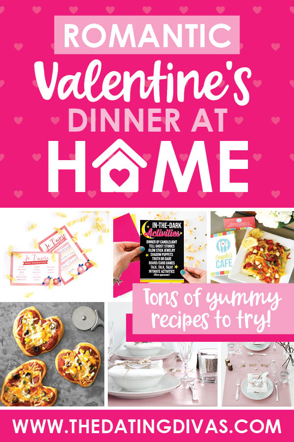 ADORABLE Valentine's day dinner ideas for the most romantic dinner at home. ;) #ValentinesDayDinner