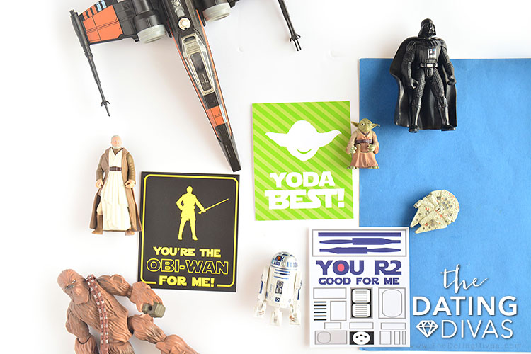 Star Wars Valentine cards for his nerdom.