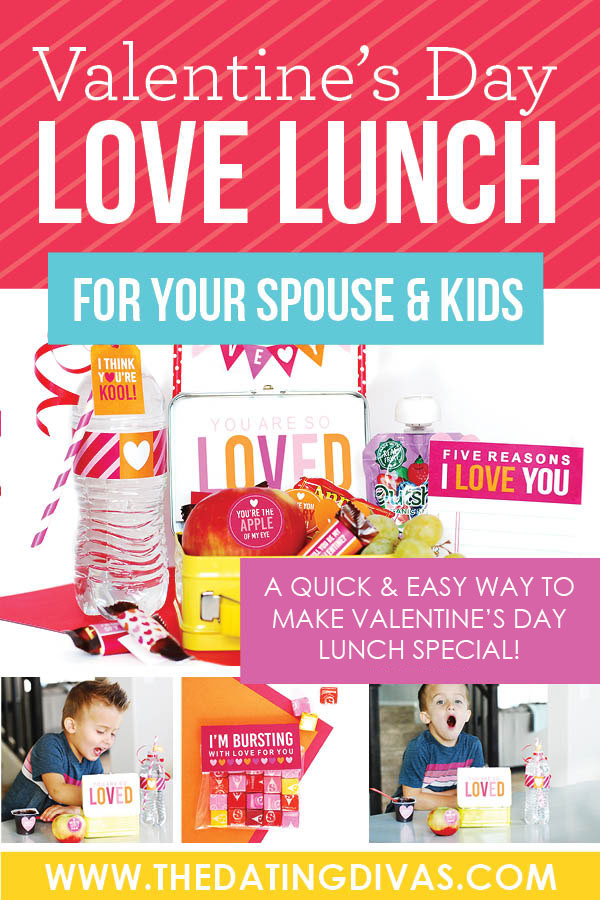 This would be so fun to surprise my spouse and kids with this adorable Valentine's Day Love Lunch for Valentine's Day! Free printable Valentine's Day love notes, lunch box jokes, and more! #Valentine'sDayLunch #EasyValentine'sDayIdeas