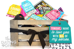 Budget Friendly Valentine's Day 5 Senses Gift Basket | The Dating Divas
