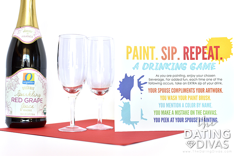 Paint and Drink Date Night Idea