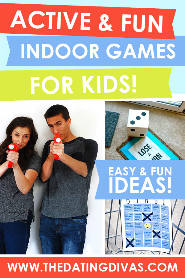 Obsessed with this list of active indoor activities for families! #KidsObstacleCourse #ActiveGamesForKids