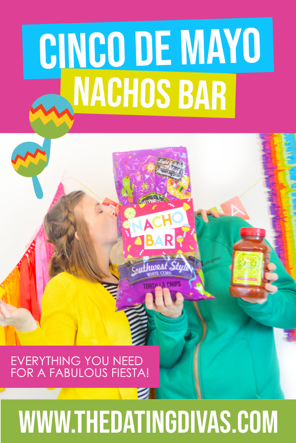 This looks like the BEST nachos bar and Cinco de Mayo activity EVER!! #datingdivas #nachos #bestnachosrecipe