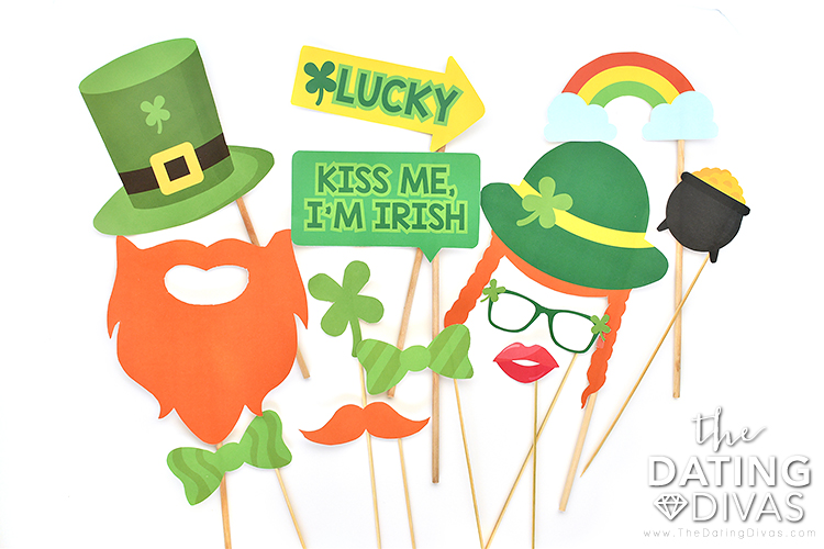 Free St. Patrick's Day Photo Booth Props