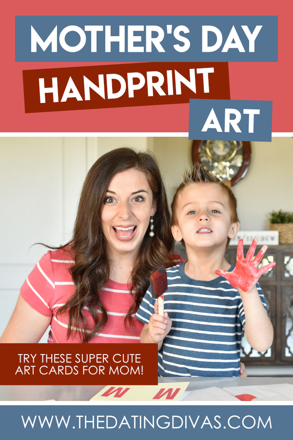 These Mother's Day handprint art ideas are ADORABLE!!! Can't wait to do this w/ my kiddo! #datingdivas #handprintart #handprintartforbabies