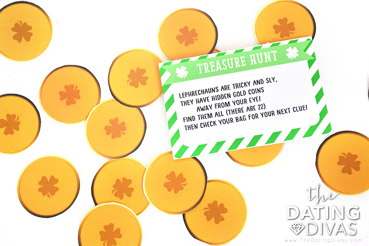 Gold coins as part of your St. Patrick Day family activity.