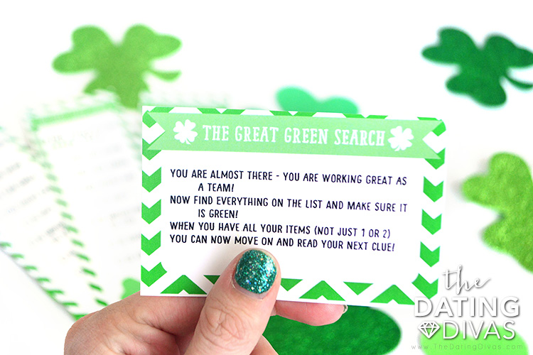 St. Patrick's Day Scavenger Hunt Clue Printables