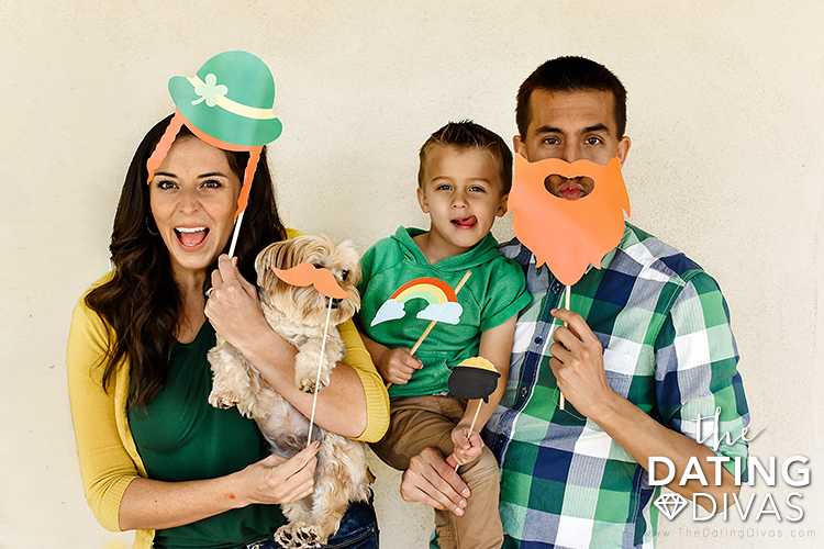 St. Patrick's Day Family Photo Booth