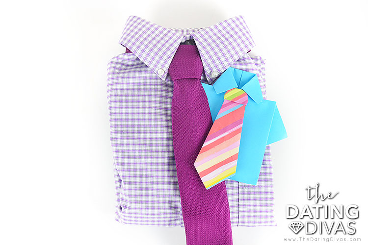 Origami Shirt and Tie Card for a Special Gift