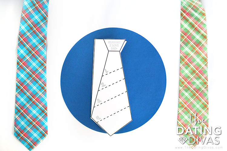 Color these Father's Day Cards in the shape of a tie.