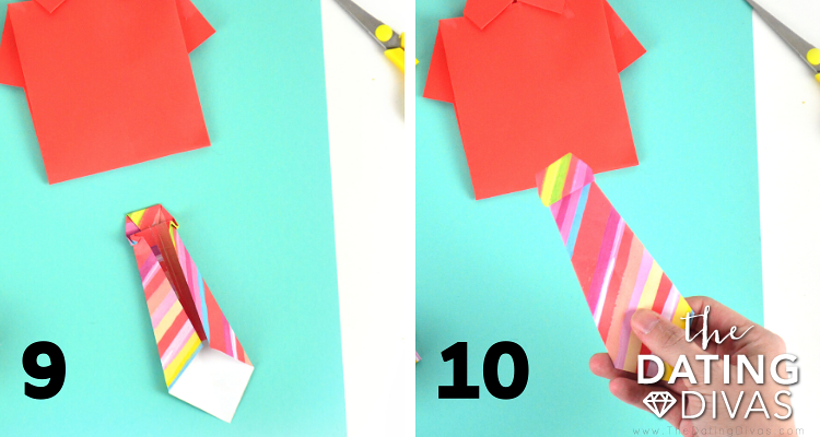 How to Fold a DIY Shirt and Tie Card Tutorial