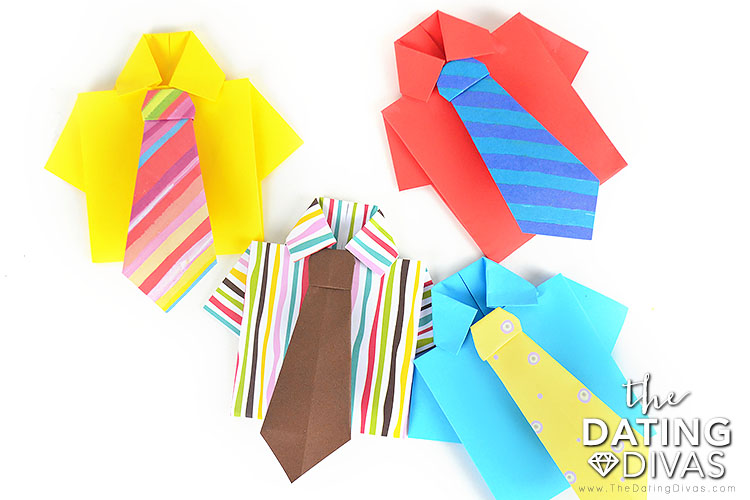 Origami Shirt and Tie Cards