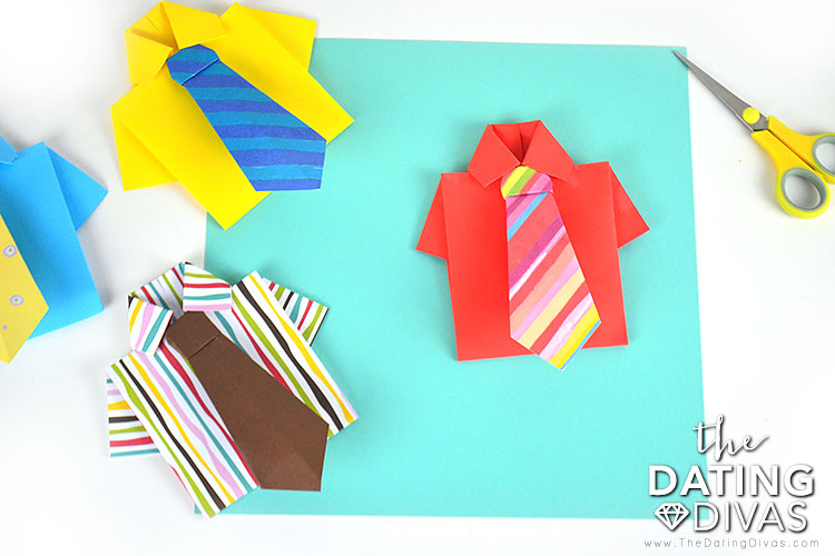 Money Origami Shirt and Tie Folding Instructions | 500x750