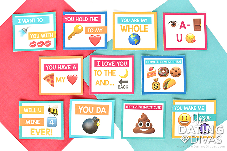 Romantic Emoji Cards