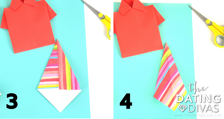 Missionary Shirt & Tie tutorial // origami shirt // notecard shirt ... | 400x750