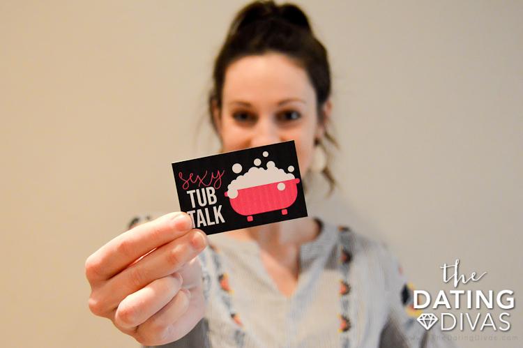 Sexy Tub Talk Cards